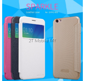 Oppo R9S Sparkle Luxury Flip Leather with Smart View Window Back Case Cover